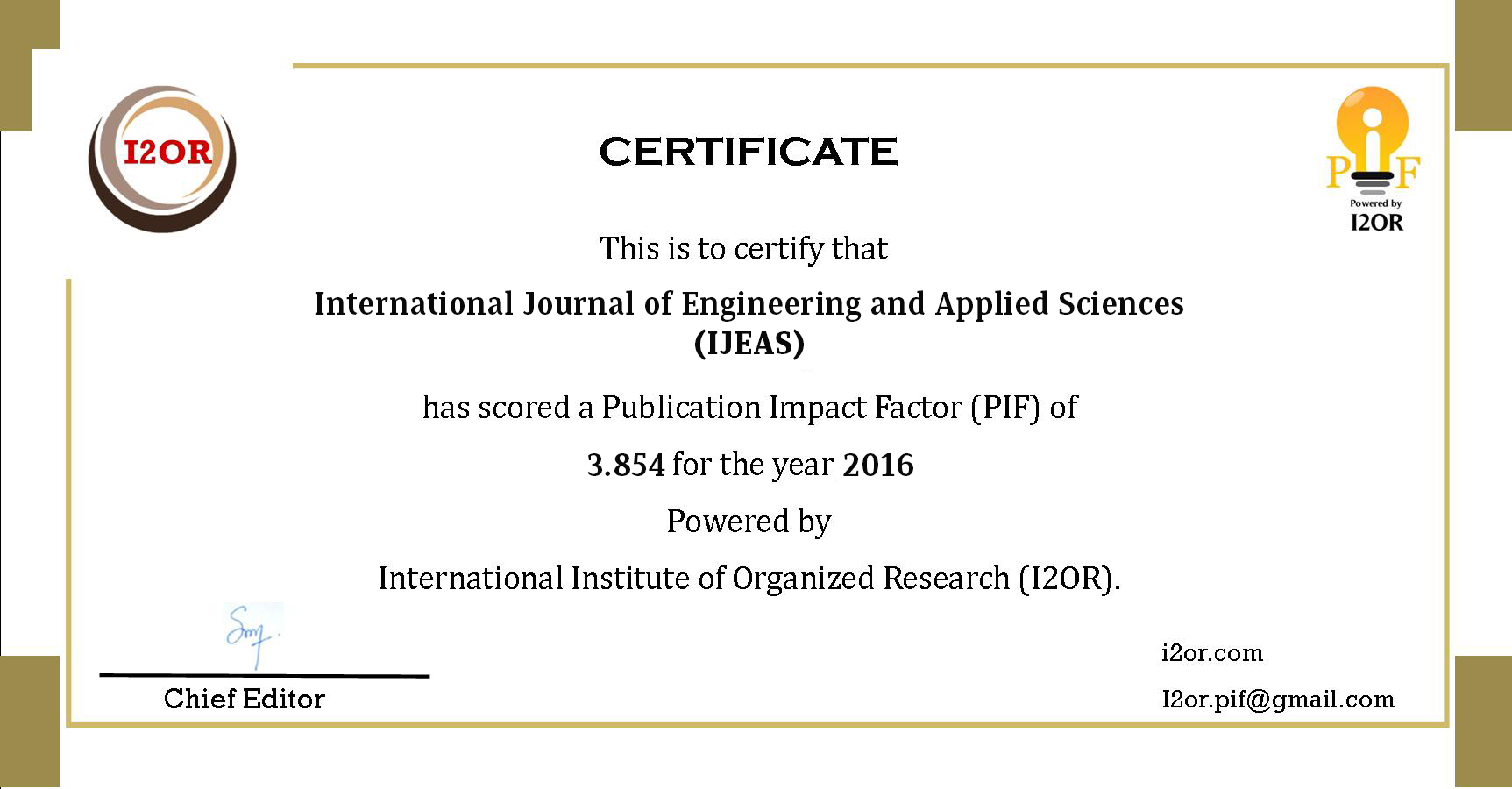 Home | IJEAS | International Journal of Engineering and